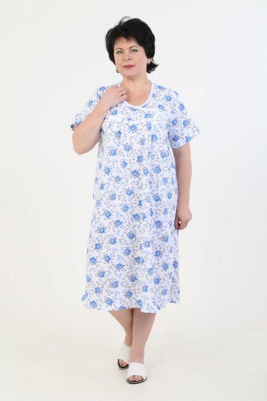 Ночная сорочка Алита (синие розы)