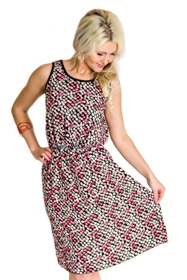 Платье штапельное Алеида (серо-розовое) фото