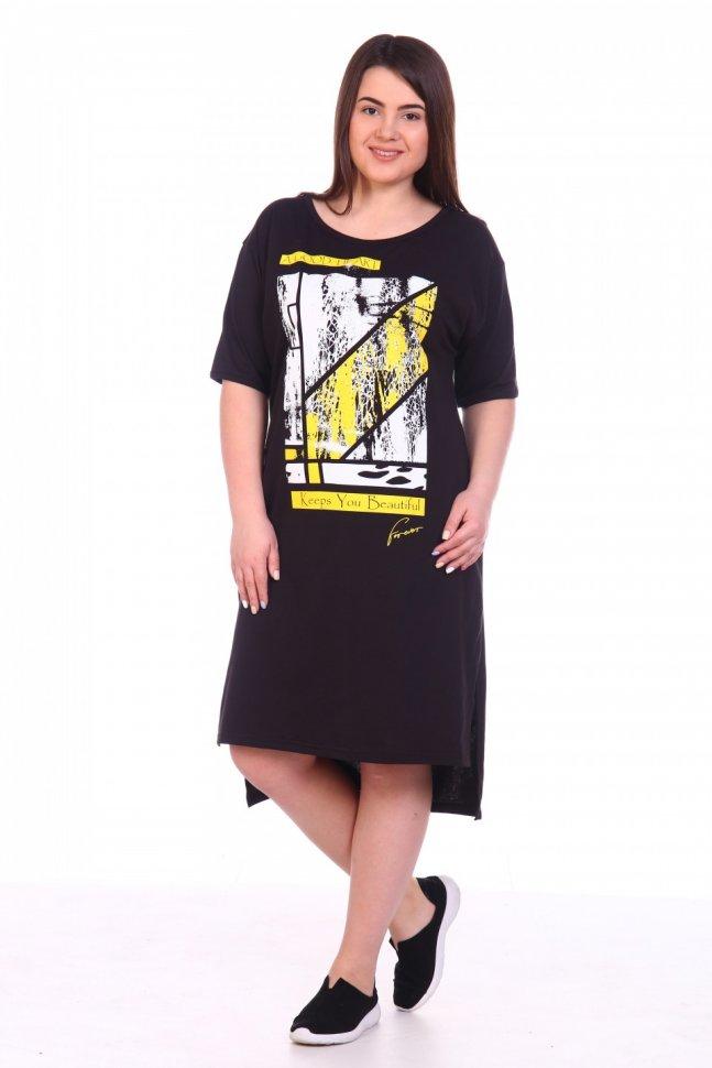 Платье трикотажное Иоанна (абстракция) фото