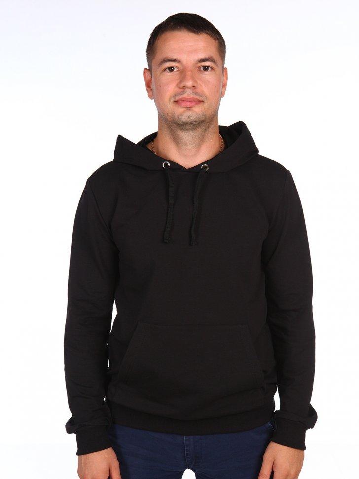 Толстовка мужская Вернон (черная) Инсантрик 58404