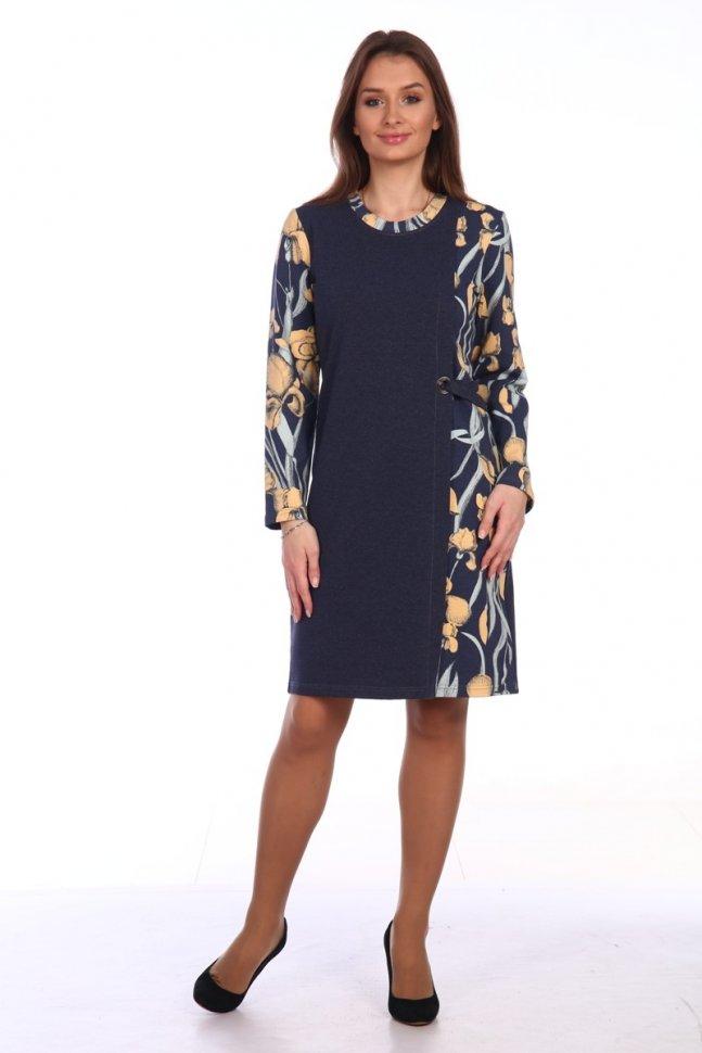 Платье трикотажное Джосет (желтые цветы) фото
