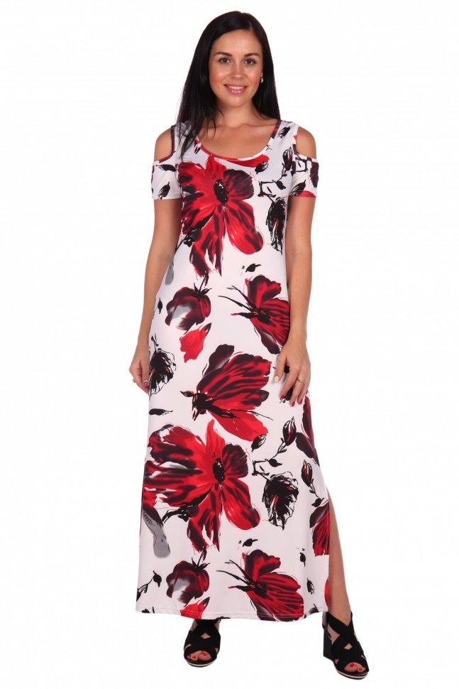 Платье вискозное Марья (цветы) фото