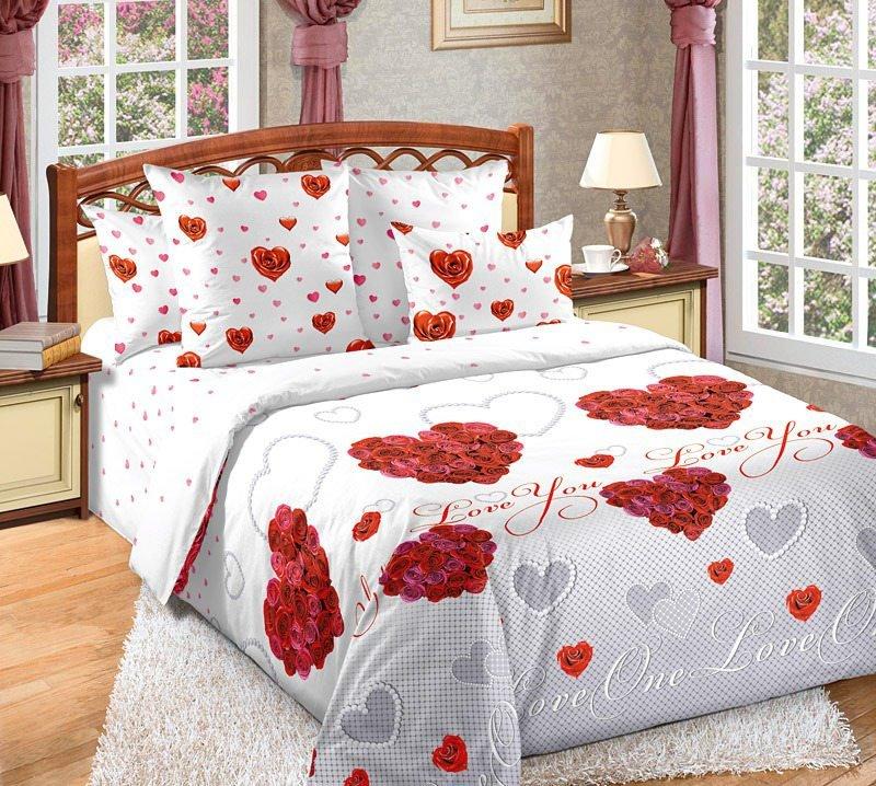 Комплект из перкаля 2-спальный Вечная любовь фото