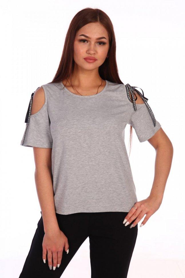Блуза трикотажная Бланш (серая) фото