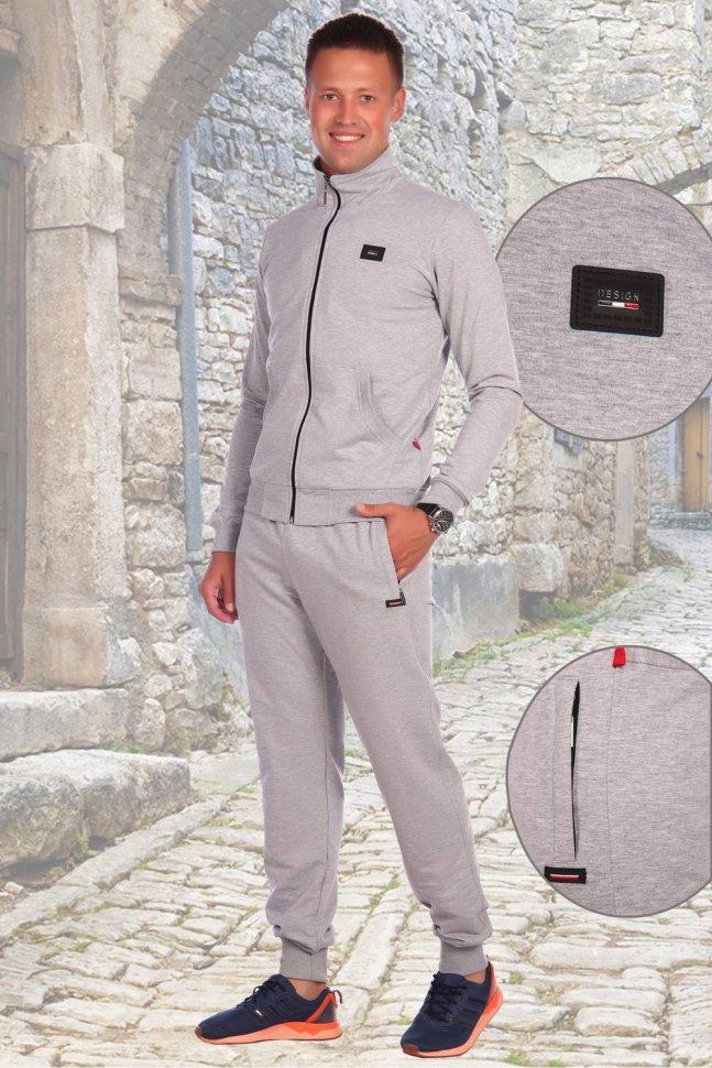 Костюм мужской Фред (серый) фото