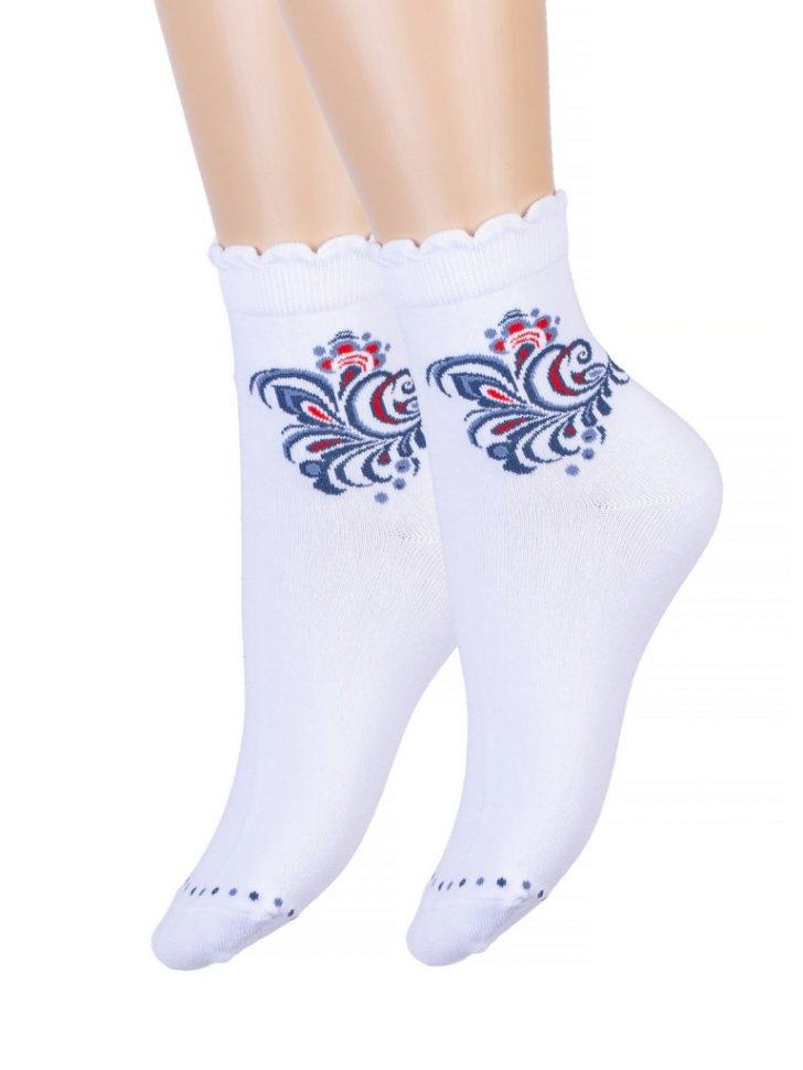 Носки женские Калипсо (белые) зк