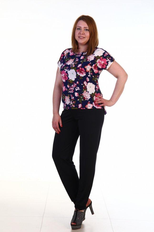 Блуза вискозная Прада (цветы) фото