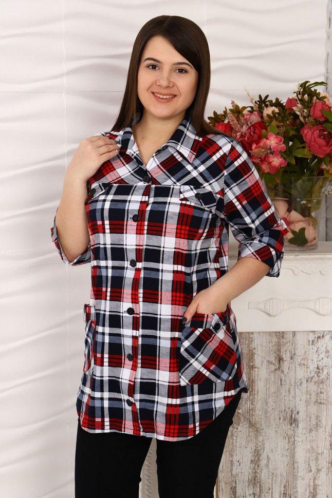 Рубашка трикотажная Клавдия (серая) фото