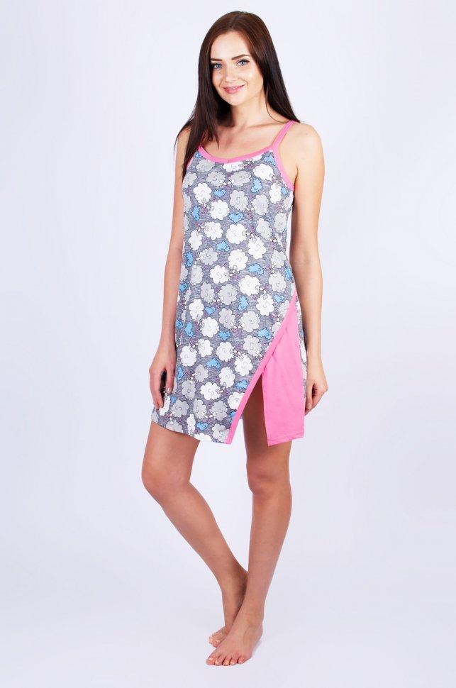 Ночная сорочка Анита (серая) фото