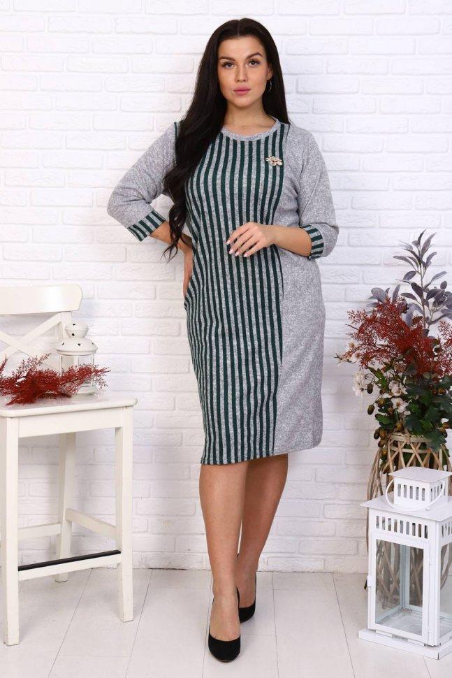 Платье трикотажное Маквин (серое)