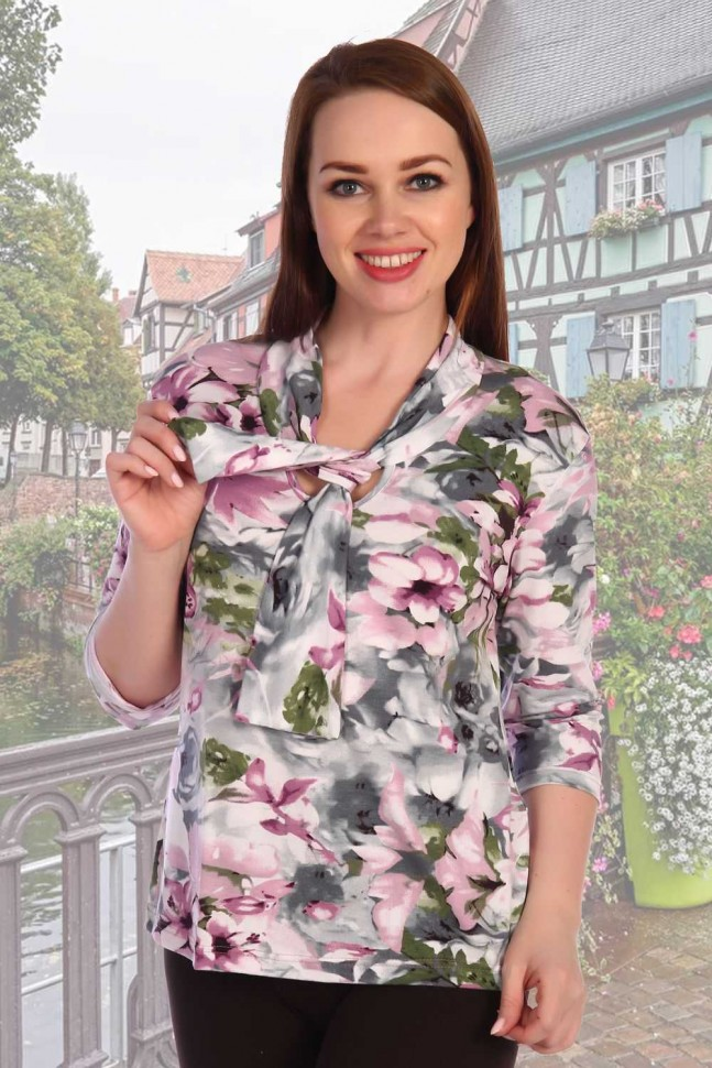 Блуза вискозная Панси фото