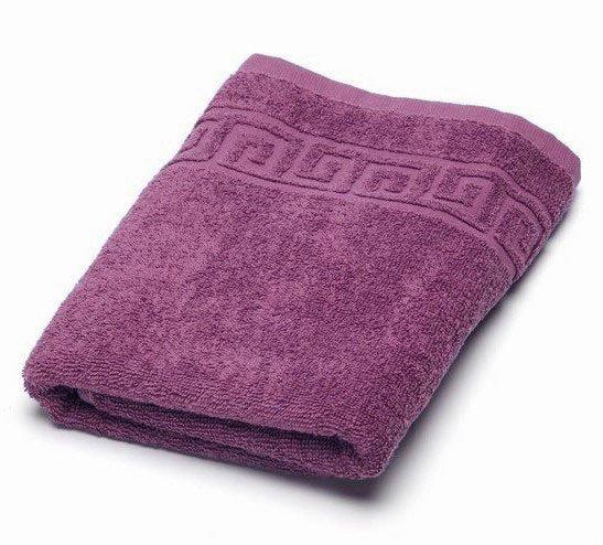 Полотенце махровое 70x140 Ашхабад (пурпурное)