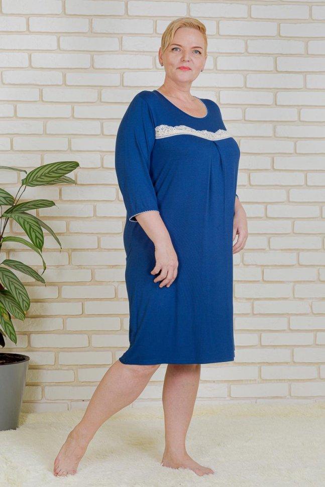 Ночная сорочка Берта (синяя) фото