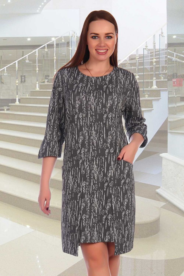 Платье трикотажное Флер (абстракция) фото