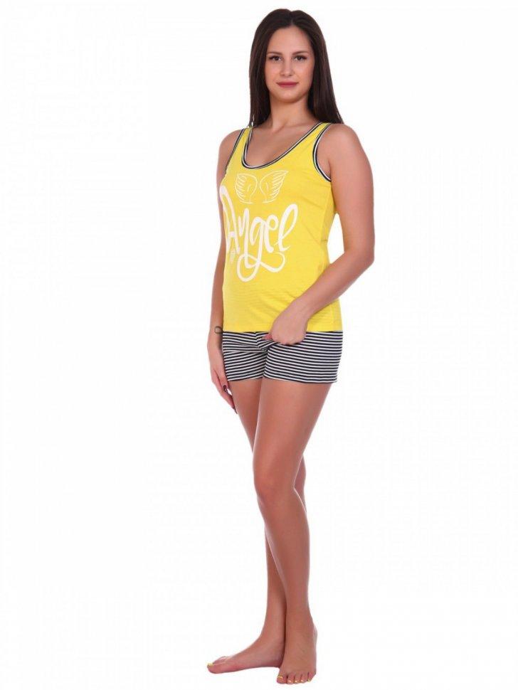 Пижама трикотажная Ангелина (желтая) фото