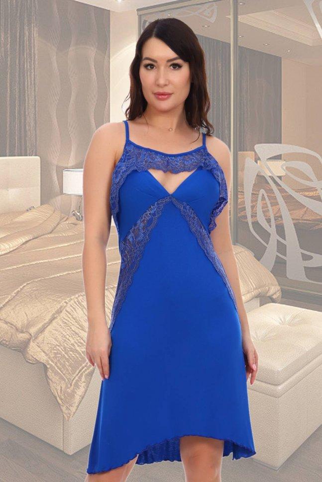 Ночная сорочка Риплей (васильковая) фото