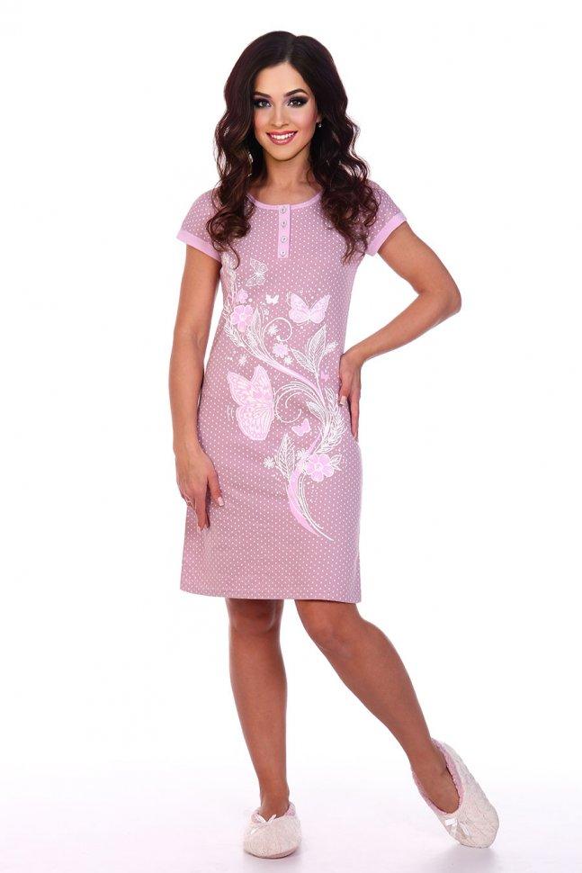 Ночная сорочка Кати (розовая) фото