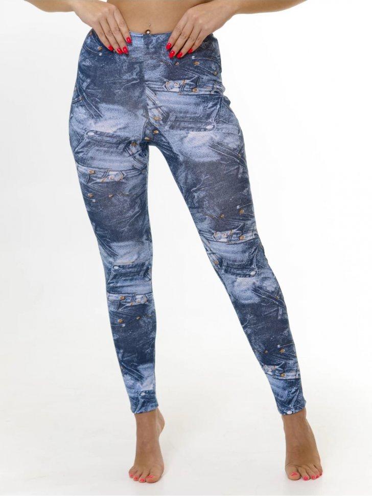 Брюки трикотажные Калерия (джинсовые)