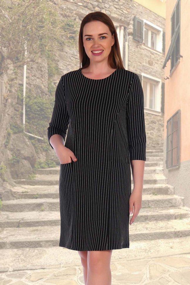 Платье трикотажное Аврелия (полоса) фото