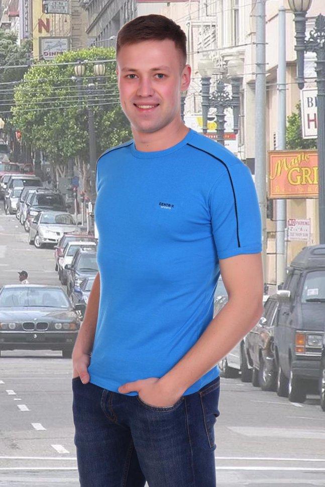 Футболка мужская Грег (голубая) фото