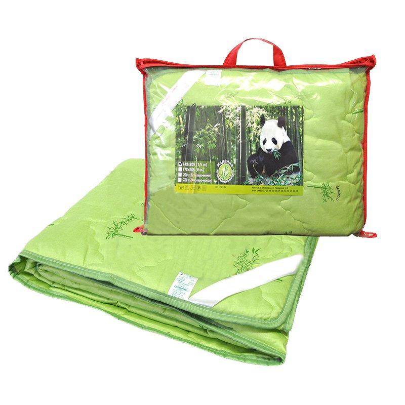 Одеяло бамбук 1,5-сп. с чехлом из полиэстера (тонкое) фото