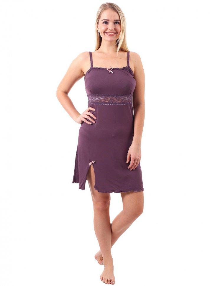 Ночная сорочка Мерцание (фиолетовая)