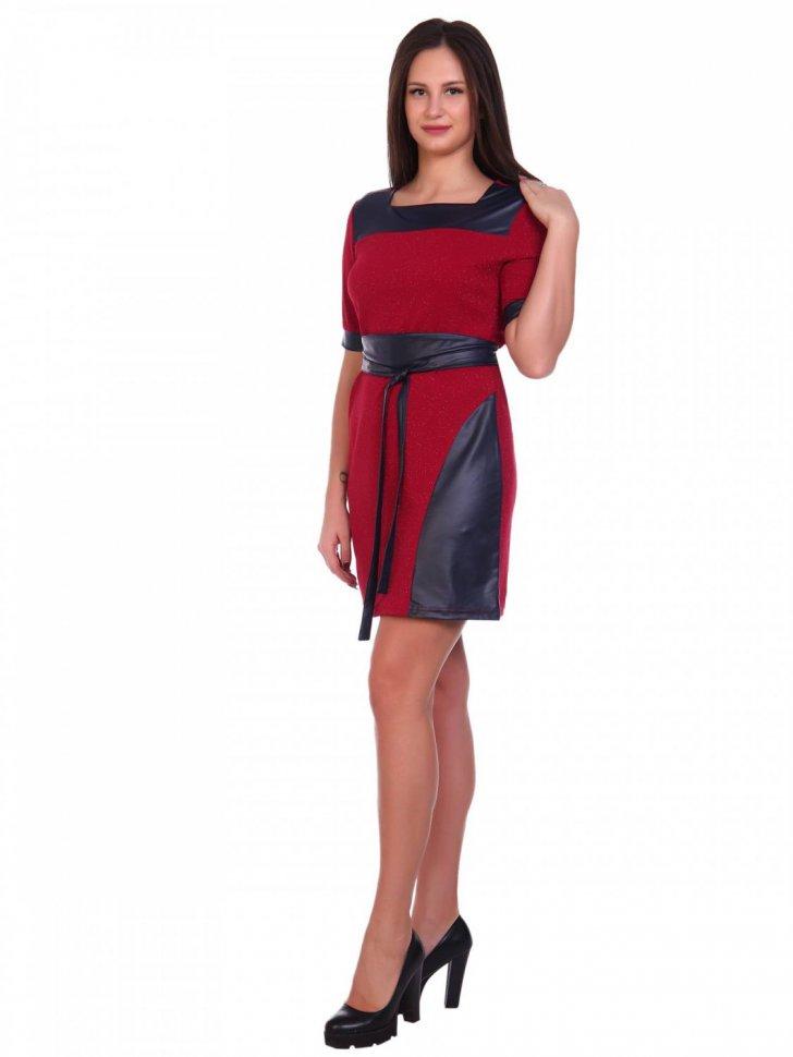 Платье трикотажное Роксанна (красное) фото