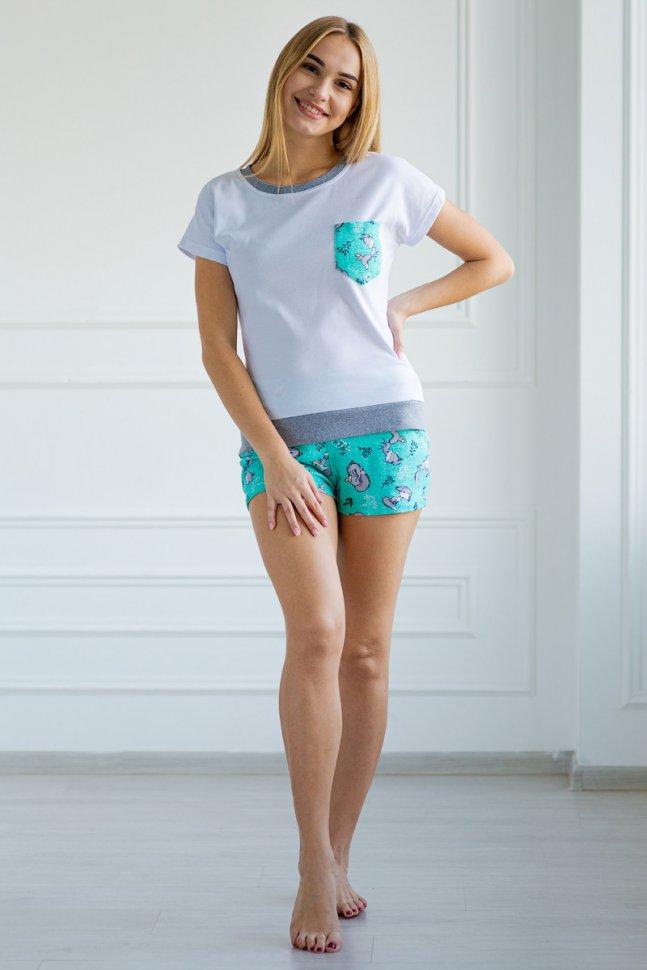 Пижама трикотажная Альба (ментоловая) фото