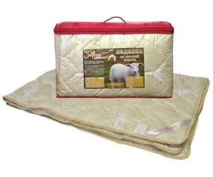 Одеяло овечка 1,5-сп. с чехлом из тика