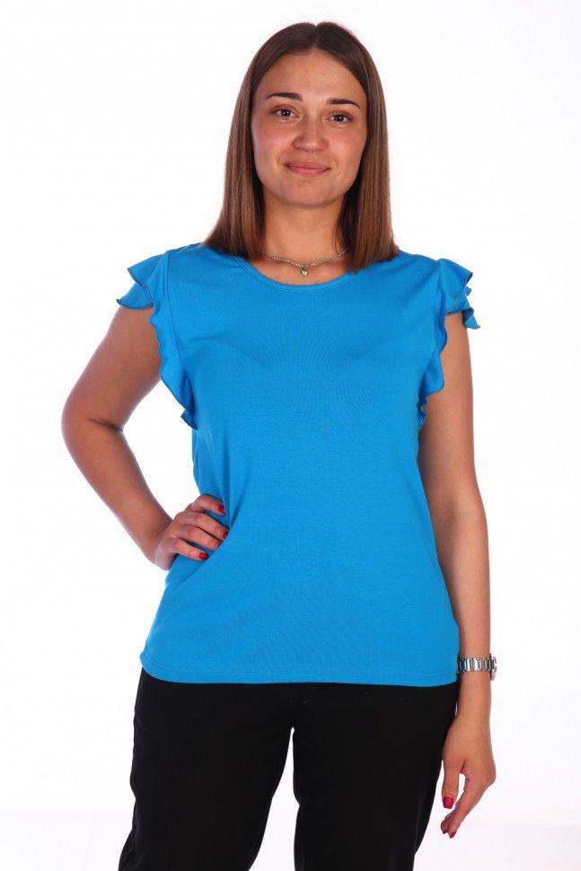 Блуза вискозная Лана (голубая) фото