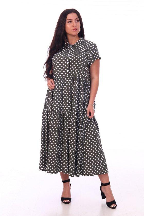 Платье трикотажное Самара (горох)