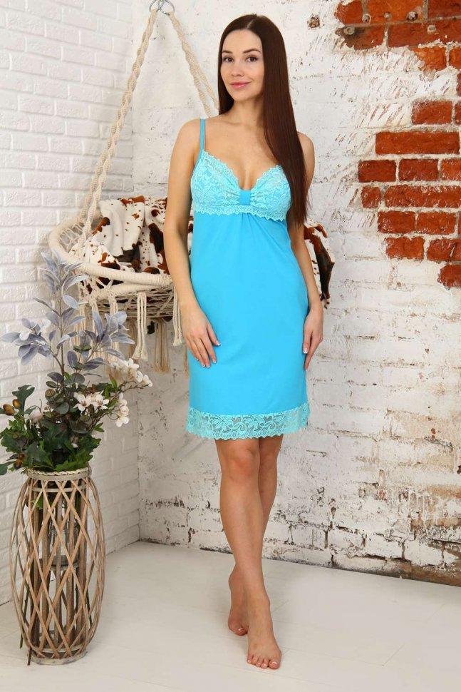 Ночная сорочка Адрианна (голубая)