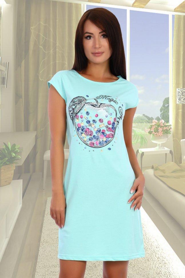 Ночная сорочка Проказница (ментоловая) фото