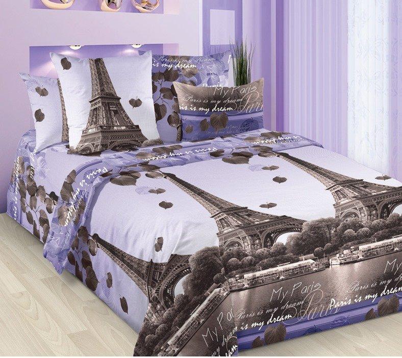 Комплект из бязи евро Романтика Парижа фото