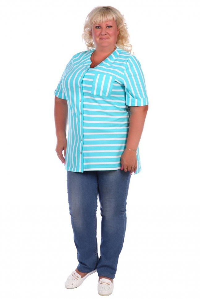 Блуза трикотажная Витэлия (ментоловая) фото