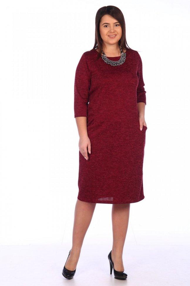 Платье трикотажное Евгения (в ассортименте) фото