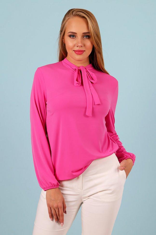 Блуза трикотажная Сивилия (ярко-розовая) фото