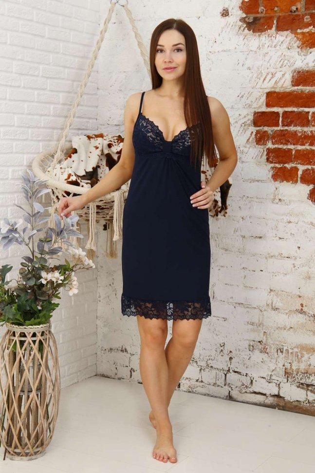 Ночная сорочка Адрианна (синяя)