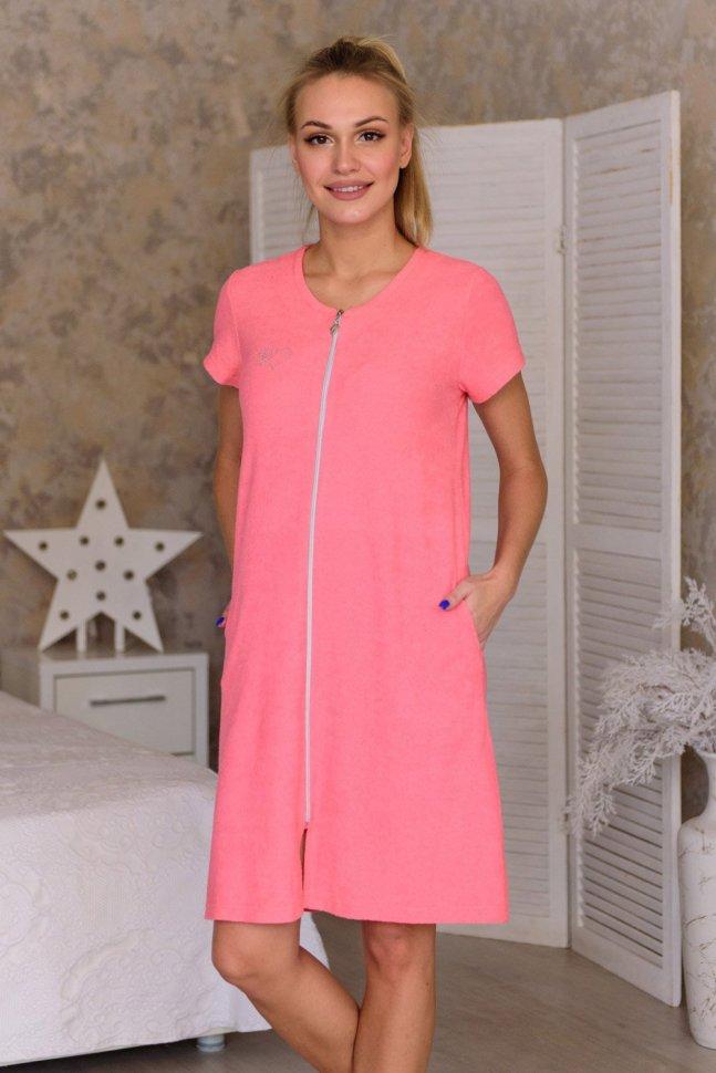 Халат махровый Лиза (розовый)