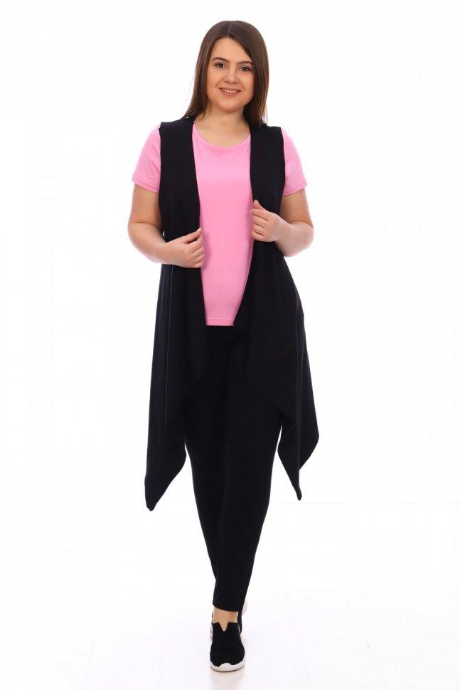 Комплект трикотажный Ханна (черно-розовый) фото