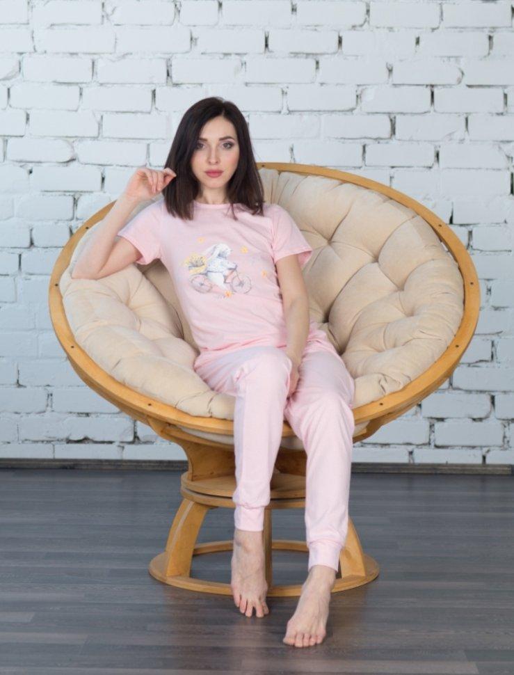 Костюм трикотажный Ева (розовый) фото