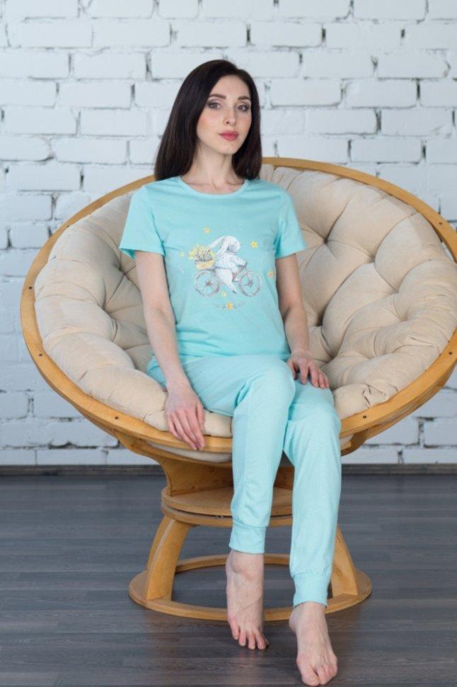 Костюм трикотажный Ева (голубой) фото