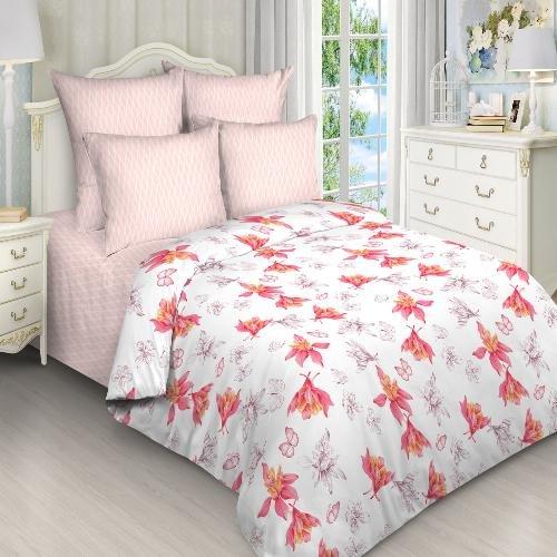 Комплект из поплина 2-спальный Цветочный мотив фото