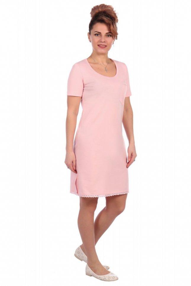 Ночная сорочка Агава (розовая) фото