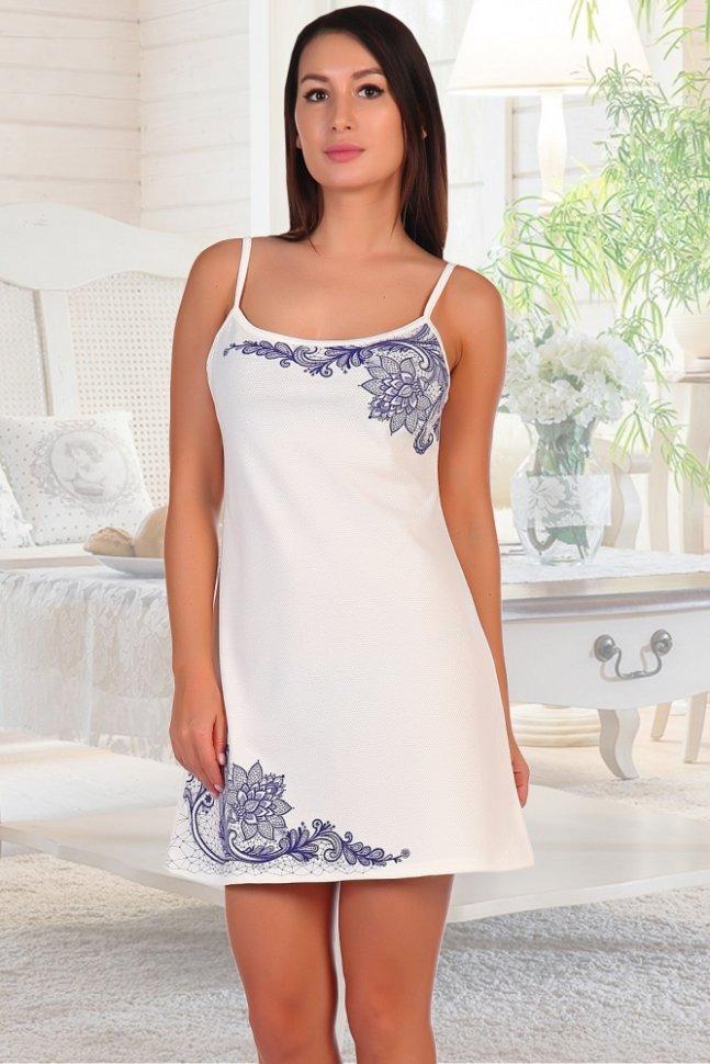 Ночная сорочка Кружева (молочная) фото