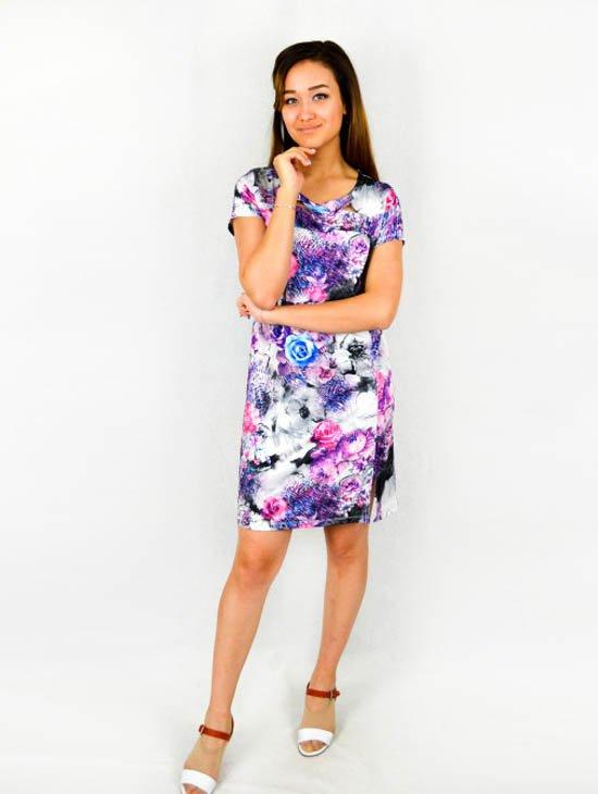 Платье вискозное Катикса (фиолетовое)