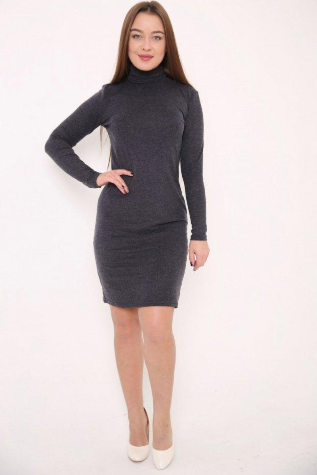 Платье трикотажное Хейз (темно-серое) фото