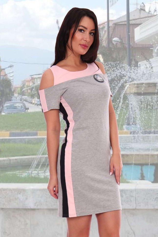 Туника трикотажная Майами (розовая) фото