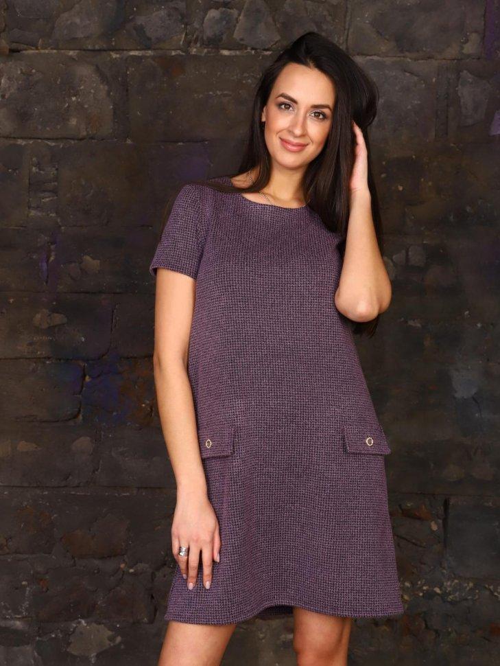 Платье трикотажное Имбирь (сиреневое) фото