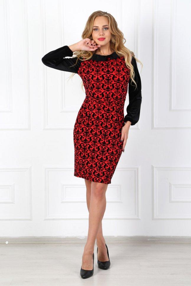 Платье трикотажное Лаверна (красное)